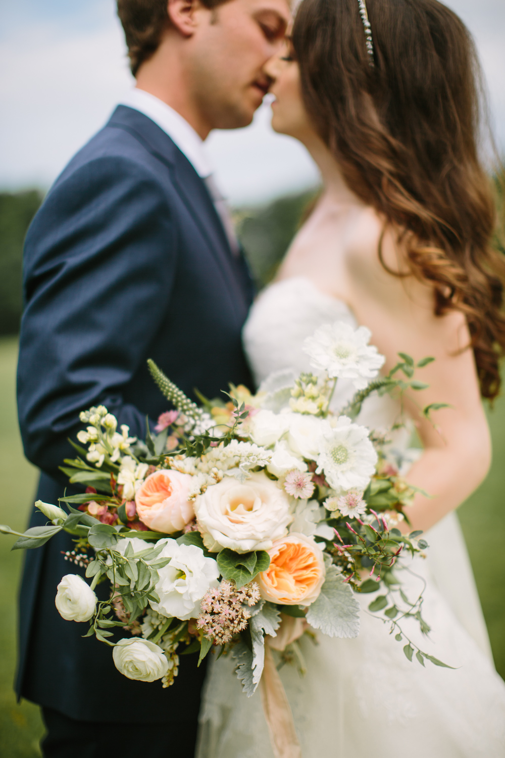 Peach and cream floral bouquet