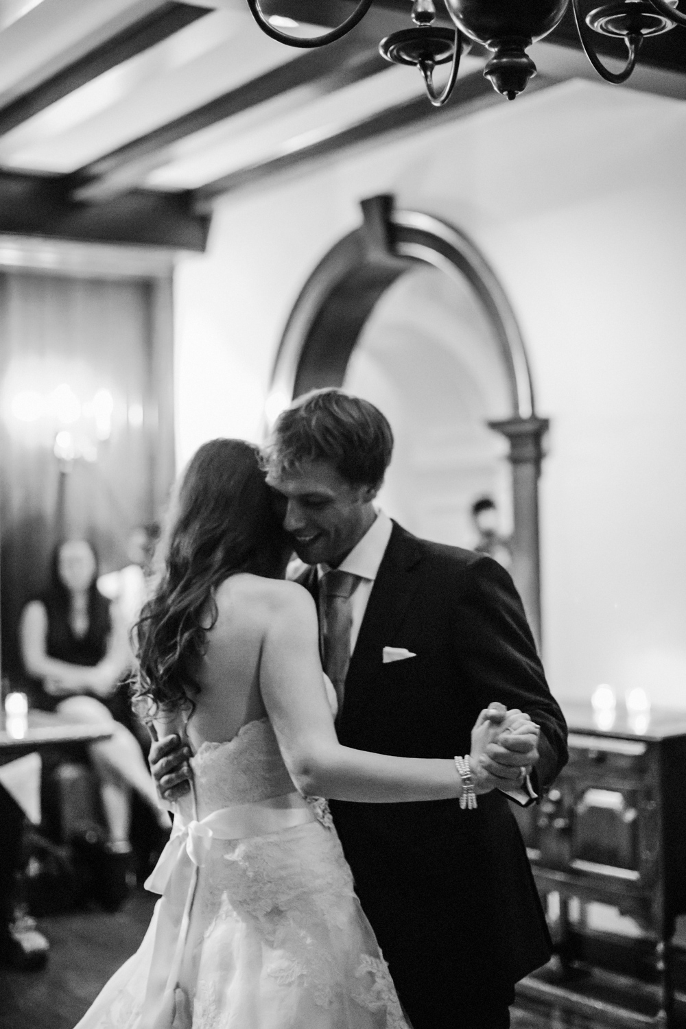 A couple and their first dance