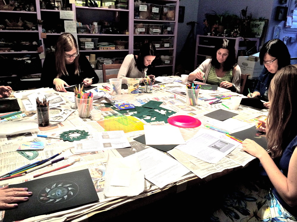 Jung @ Art Mandala Workshop facilitated by Jessica Lynn Harris at Blue Lotus Studio