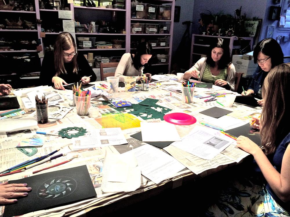 Jung @ Art Mandala Workshop facilitated by Jessica Lynn Harris at Blue Lotus Studio