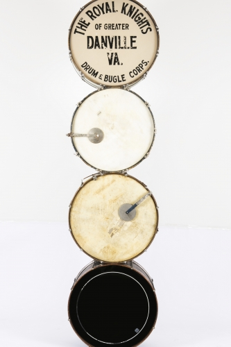 Terry AdkinsMuffled Drums (from Darkwater), 2003 Bass drums, mufflers Dimensions variable