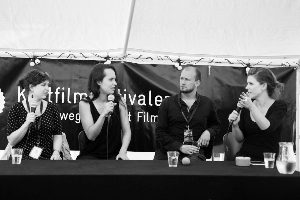 Director Q&A with (left to right) Caroline Poggi, Pekka Veikkolainen and Julia Fryett