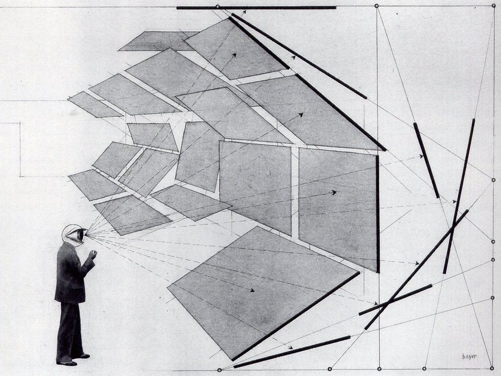 Herbert Bayer.  Diagram of 360 Degrees Field of Vision . 1935.