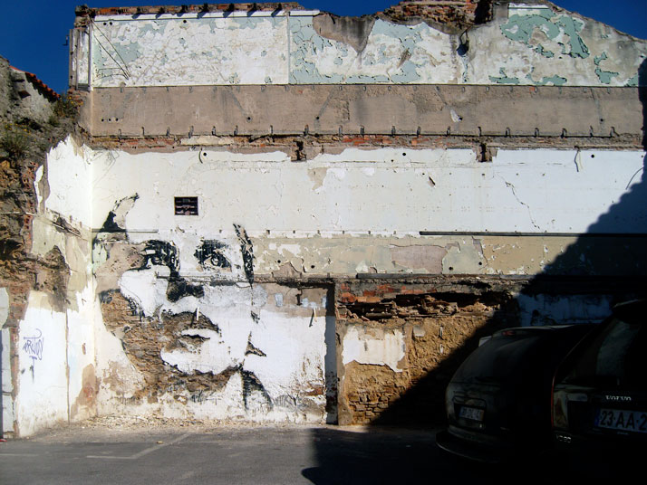 "Vhils, ""Scratching the Surface"", 2009"