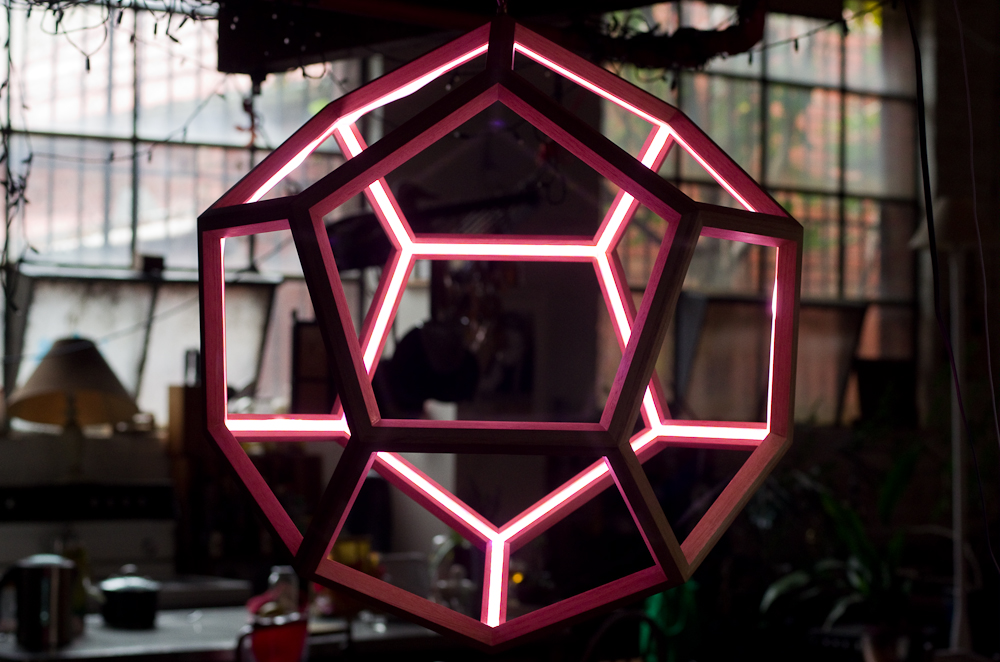 dodecahedron pendent light