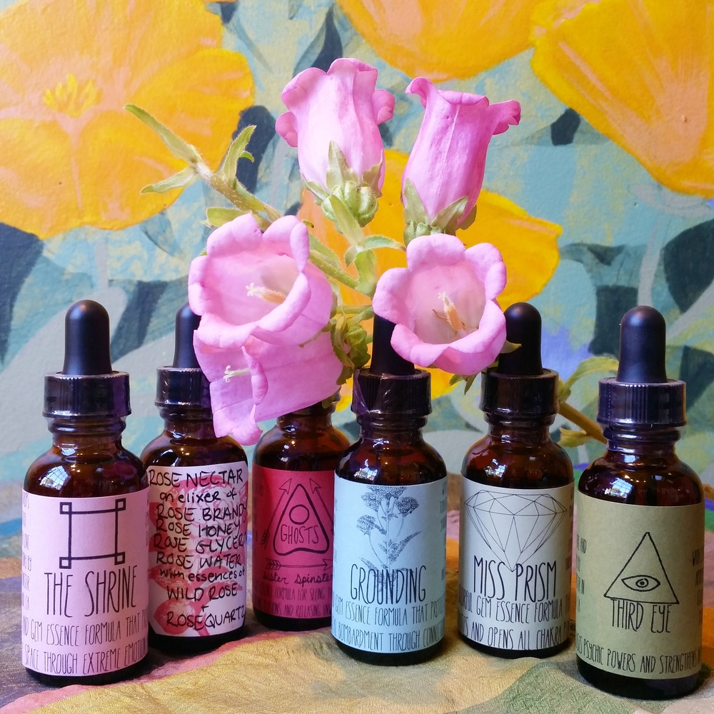 Delicious locally made tinctures from Sister Spinster. Get one in every flavor, for every mood.