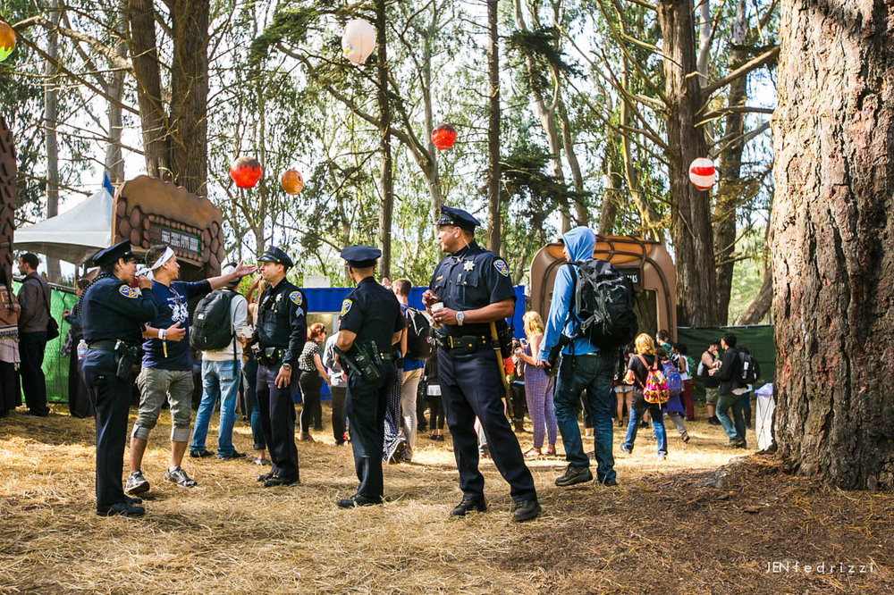 August -  Police ice cream break at Outside Lands Festival