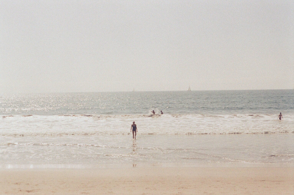 Jasmine Amara  emerges from the Pacific Ocean - Santa Monica, CA - 35mm