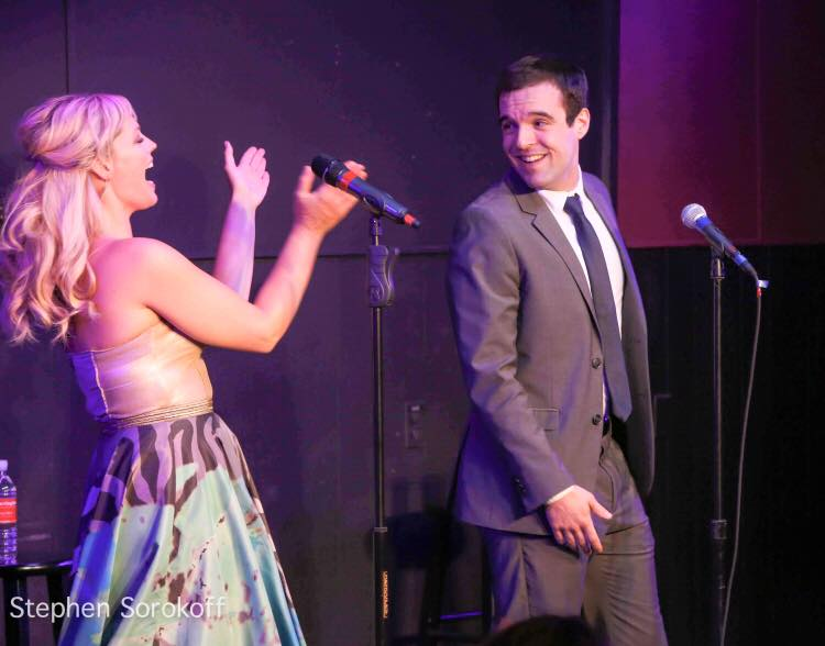 "Ben singing with Elizabeth Stanley, ""I Get Carried Away,"" Mr. Finn's Cabaret at BSC, 2015 Stephen Sorokoff, photographer"