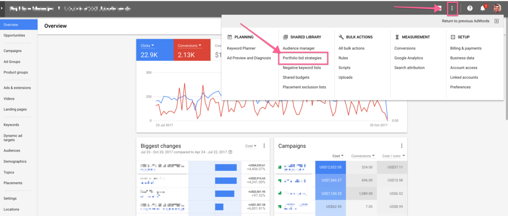 portfolio bid strategies in the new adwords interface.png