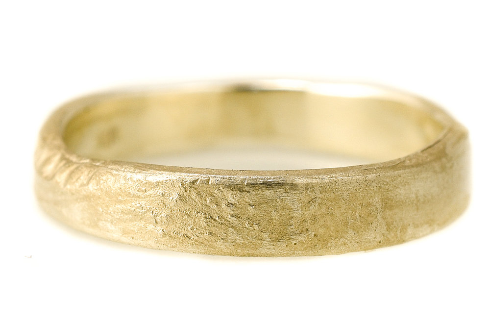 Earth 4mm Gents ring Sunrise Yellow gold €1052