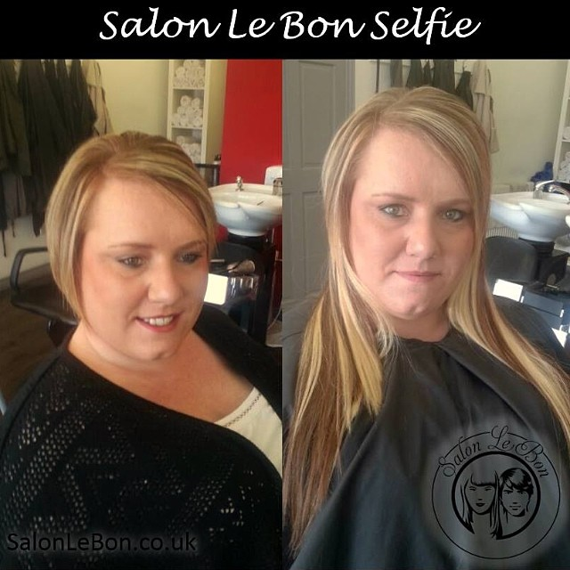 #salonlebonselfie micro ring hair extensions before and after http://www.salonlebon.co.uk/micro-ring-hair-extensions