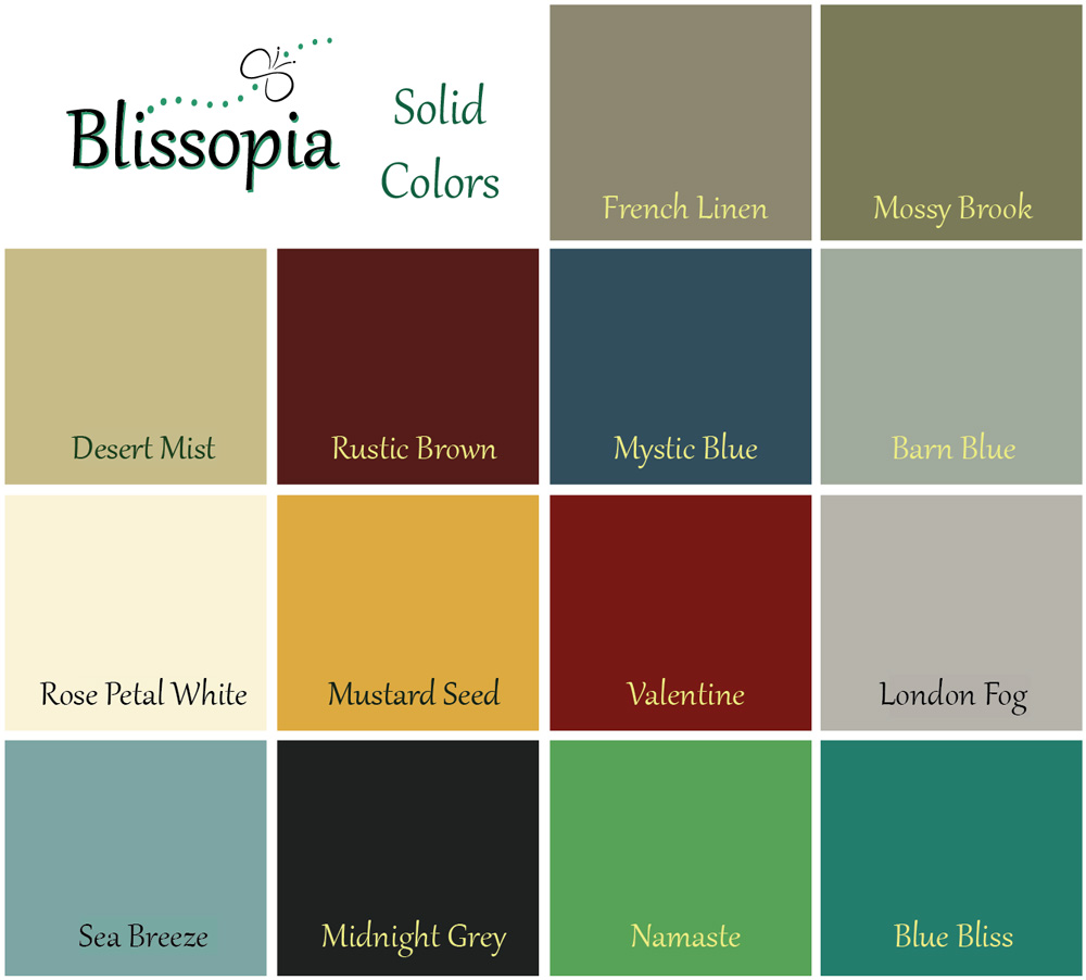Solid Colors (click to enlarge)