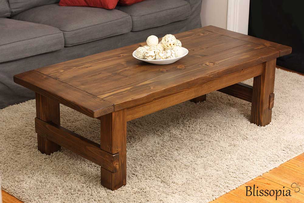 Coffee TablesBlissopia  Rustic Farmhouse Reclaimed Wood