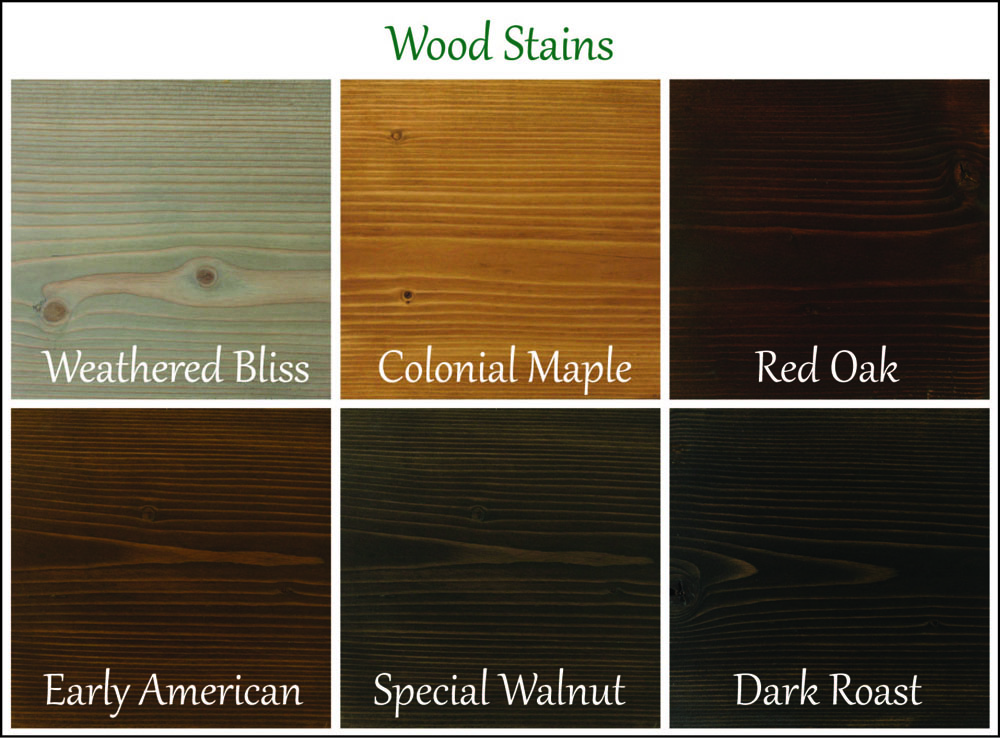Wood Stains (click to enlarge)