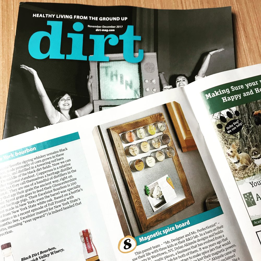 Our magnetic memo boards featured in the November 2017 issue of Dirt Magazine