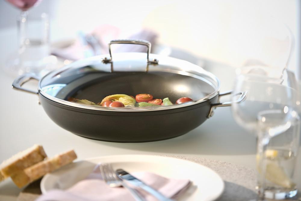 Le Creuset wok met deksel
