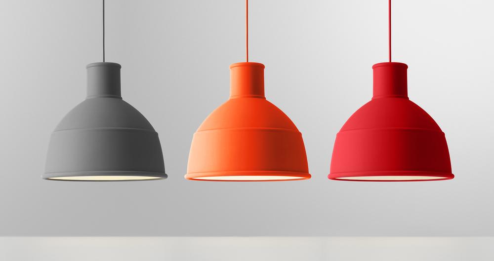 Muuto Unfold hanglampen in rubber