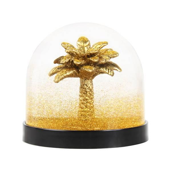 &Klevering Gouden sneeuwbal met palmboom