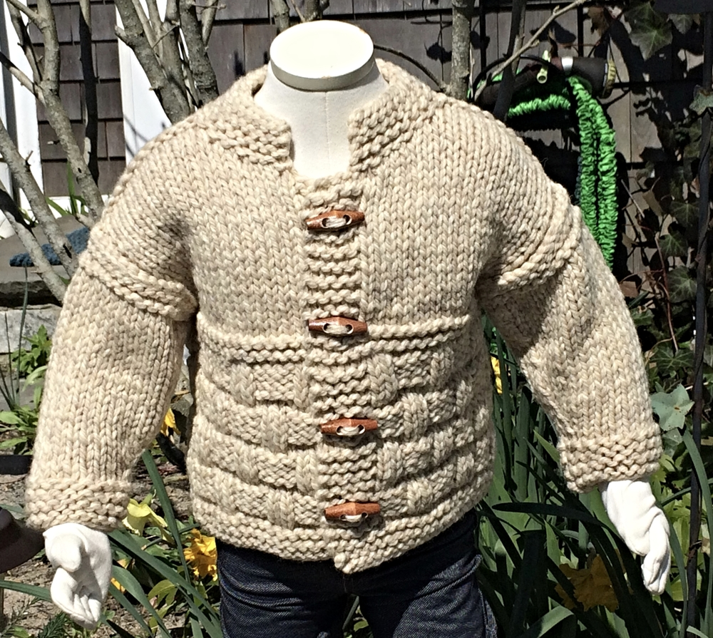 e53cbecb6 Shetland Toggle Jacket / Hand Knit Baby Sweaters