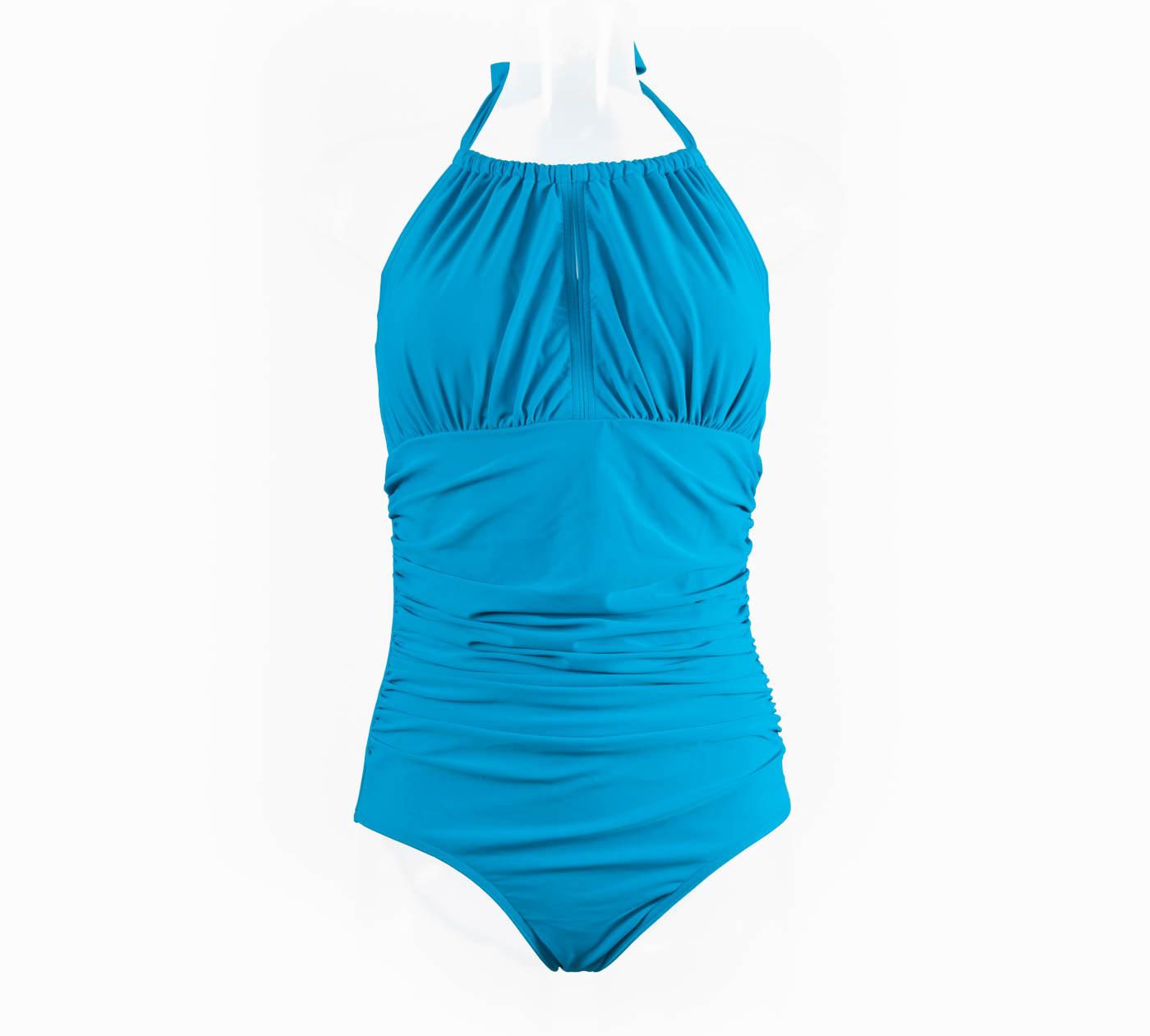 04ca440c70 Dive High-Neck Mastectomy Swimsuit - Ocean Blue — Clover Lewis Swimwear