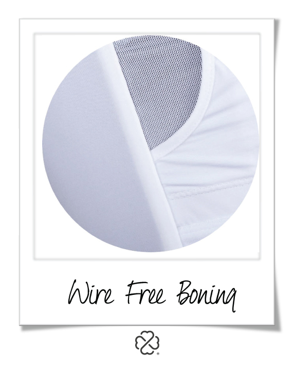 Look for swimwear with wire-free internal support for your breast form(s)