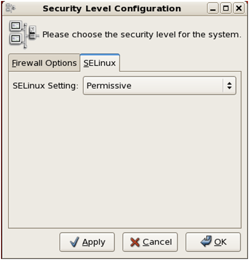 Security Level Configuration
