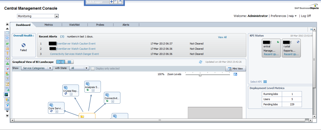Introduction to CMC Monitoring in SAP BO4 SP4 - Clariba website