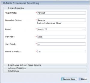 Configure algorith parameters
