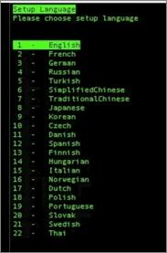 Set up Language