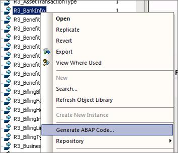 Generate ABAP code