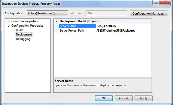 Project Deployment in SQL Server Integration Services 2012