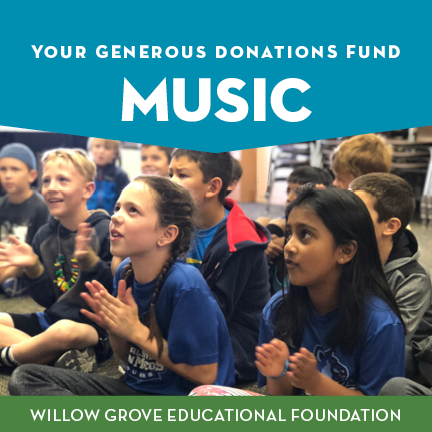 Thanks to the Grizzly Growth Fund, we are fortunate to have weekly Music instruction for all of our students! -
