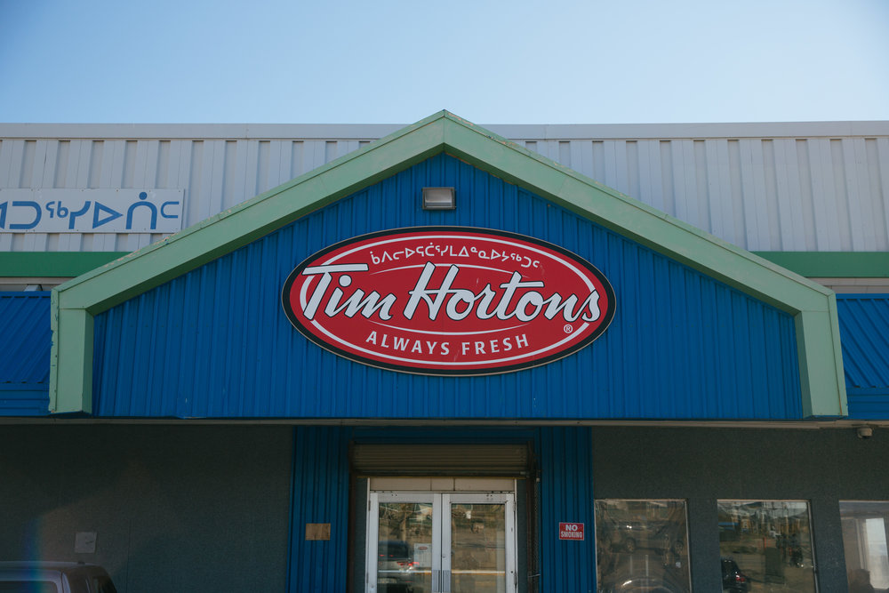 4:13 PM - The most northerly Tim Hortons in the world.