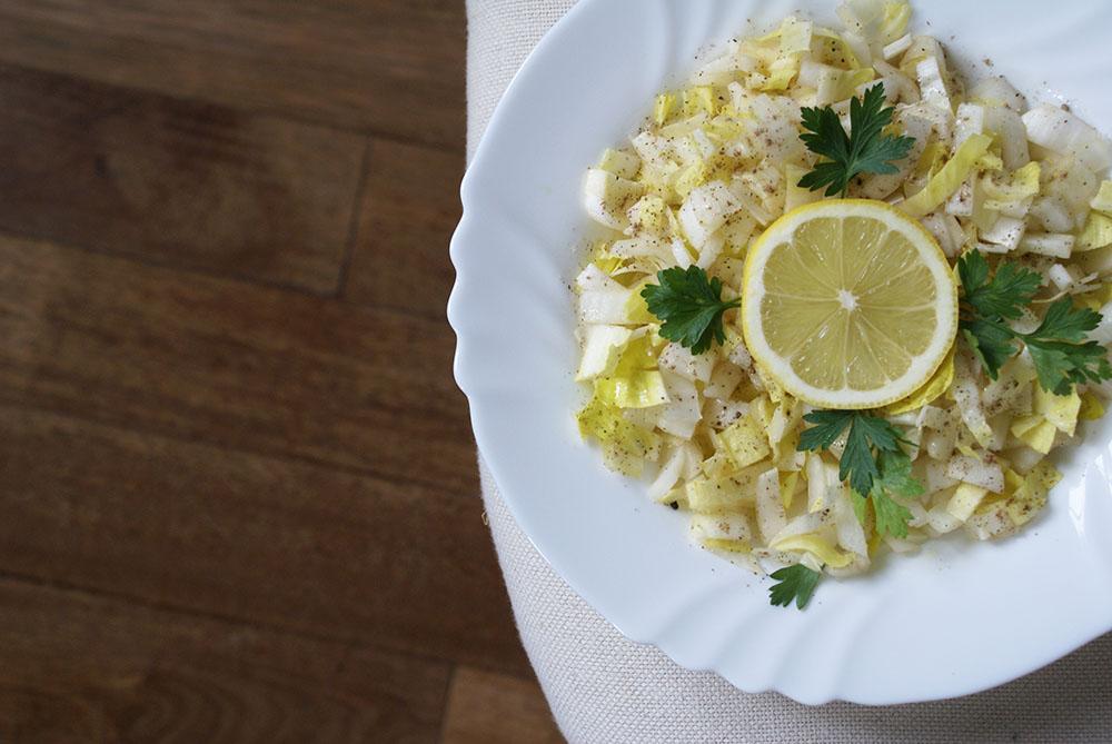 salade d'hiver aux endives sans gluten