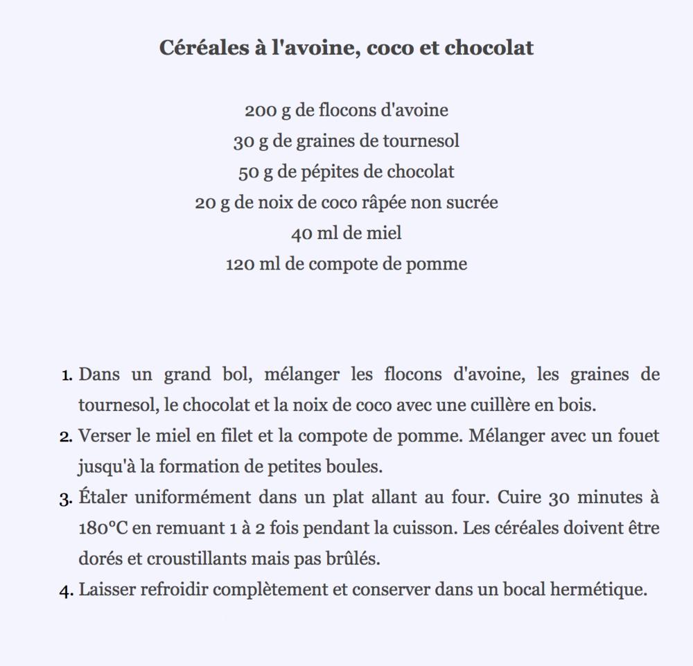 céréales de Barbara Gâteau sans gluten