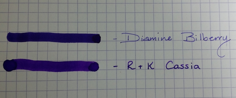 An FPN member reminded me of Diamine Bilberry as a comparison too.