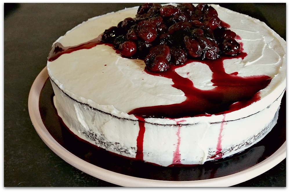 I Love The Way That Little Bit Of Cherry Juice Drizzles Down Sides It Makes Cake Look So Much More Menacing