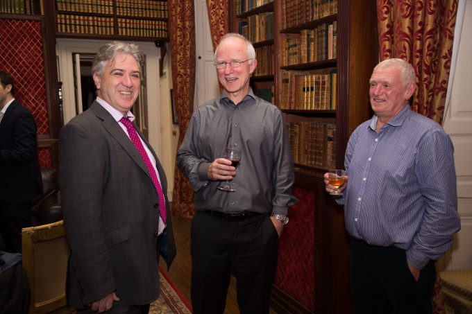 From L to R: Paul Davis managing director Nephin Whiskey, Hugh Tinney pianist and artistic director and John Neilly, Master Cooper Nephin Whiskey.