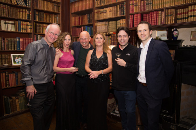 From L to R: Hugh Tinney pianist, Catherine Leonard violinist, Charles Owen pianist, Slyvia O'Brien soprano, Jose Franch-Ballester clarinetist and Mark Quick from Nephin Whiskey.