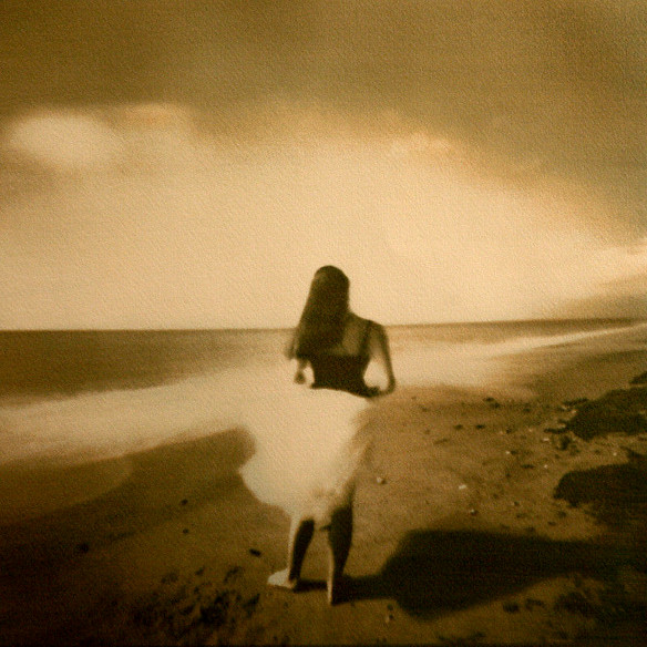 GIRL ON A BEACH  , from  Figurative  series; gum bichromate.  Limited edition 2/10
