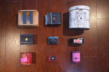 Some of my pinhole cameras; image from Walter magazine