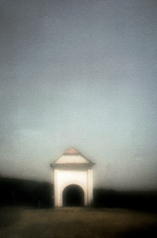 Saint Sebastian on the Hill,   from the  Landscape  series; tri-color gum bichromate, pinhole.  Limited Edition 5/10.