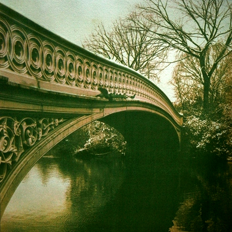 BOW BRIDGE IN SPRING,   from the  Landscape  series; gum bichromate.  Limited edition 2/10