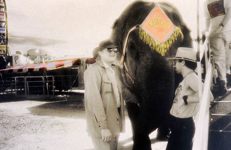 CIRCUS  , from  The Midway  series; infrared, hand-tinted b&w print; Limited edition 2/10