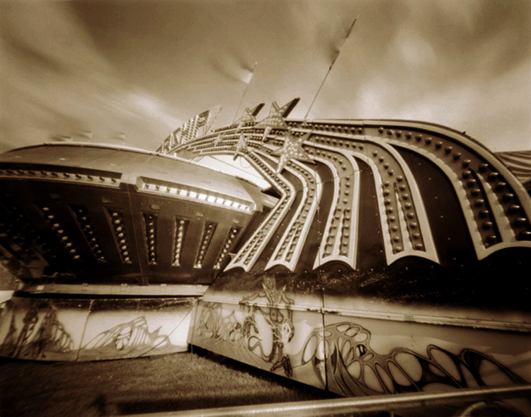 MIDWAY STARSHIP  , from  The Midway  series; platinum/palladium, pinhole.  Limited Edition 2/10.