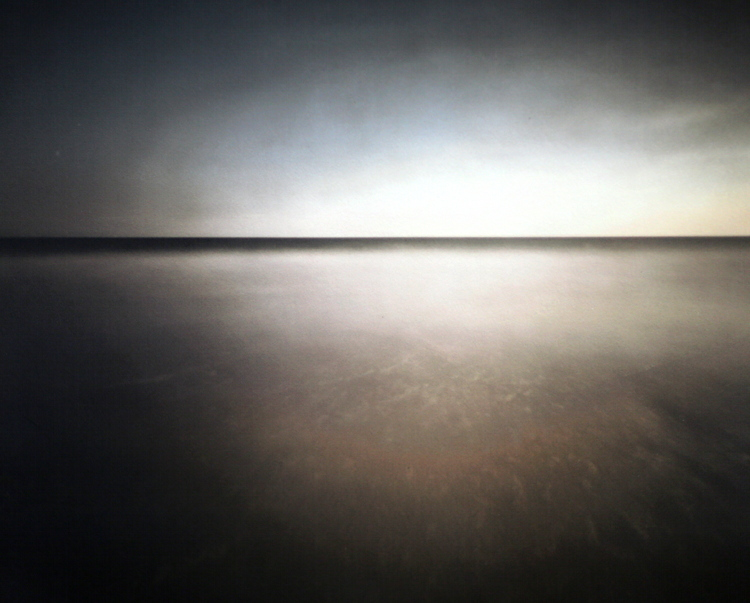 SURF, BALD HEAD ISLAND, NC , from the  Landscape series ; platinum over pigment, pinhole.  Limited Edition 1/10