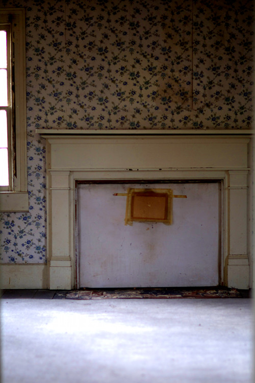 BLOCKED FIREPLACE  , from  Interiors .  Pigment print.