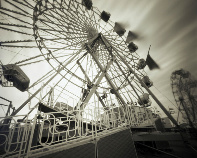 FERRIS WHEEL  , from  The Midway  series.  Platinum/palladium, pinhole.  Limited Edition 2/10