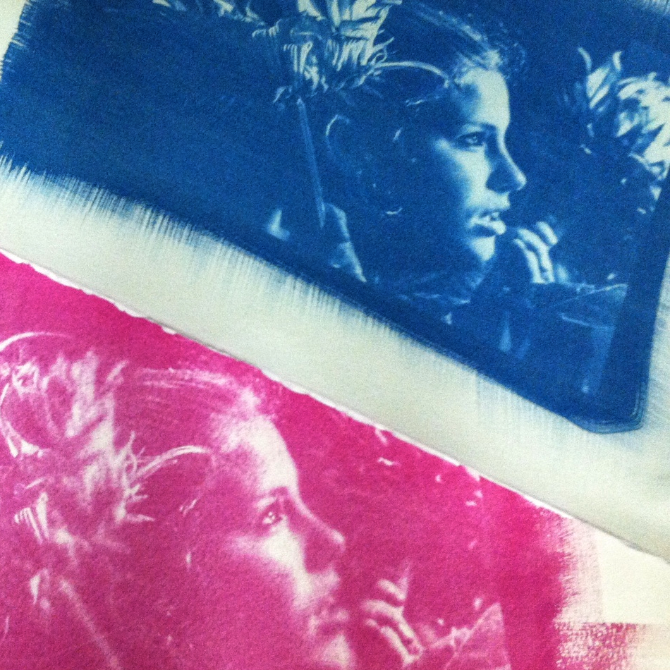 Cyan & Magenta layers, printed by CC Poole; image by ©Megan Boericke, of CC.